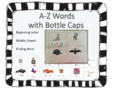 A-Z Words with bottle caps