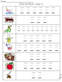 A-Z Write and Stamp the Room Centers