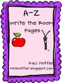 A-Z  Write the Room  Papers