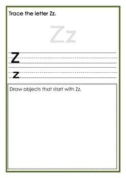 A-Z Writing Workbook
