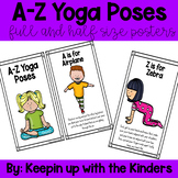 A-Z Yoga Poses; full size and half size posters