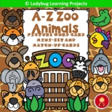 A-Z Zoo Animals Picture Word Card Mini-set and Memory Match Cards