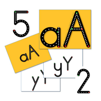 A-Z, a - z and 0-9 traceable letters & numbers.