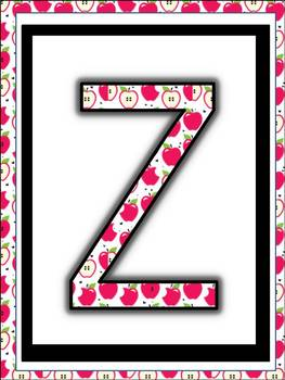 alphabet Posters to print, cut and laminate (Pink Apple Design)