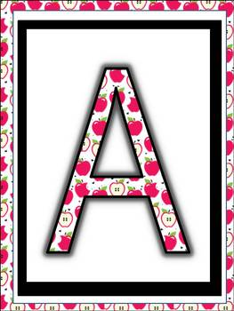 alphabet Posters to print, cut and laminate (Pink Apple Design) classroom decor