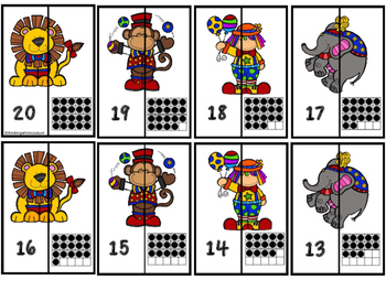 A-Z and 1-20  Circus Puzzles