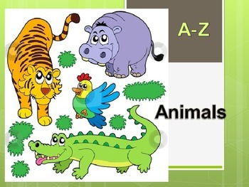 A-Z animals PPT presentation for students to fill in