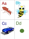 A-Z cards and matching game.