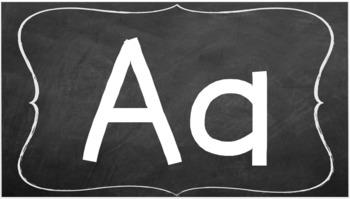 A-Z chalkboard alphabet