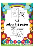 A-Z colouring pages {FREEBIE}