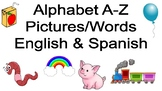 A-Z english and spanish words with pictures