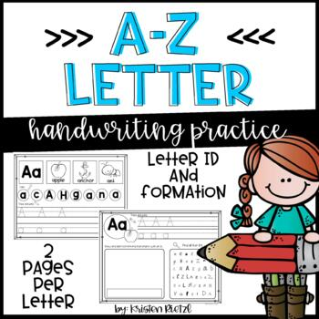 A-Z handwriting practice