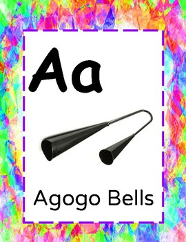 A-Z musical Instrument posters