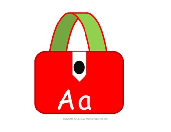 A-Z on colorful bags