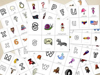 A-Z phonics words