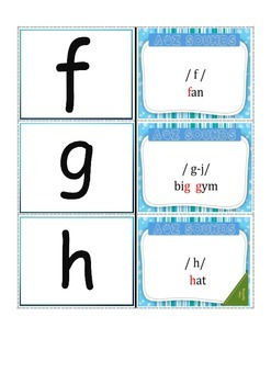 A-Z phonogram Flash cards