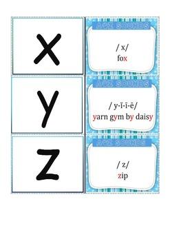 A-Z phonogram Flash cards