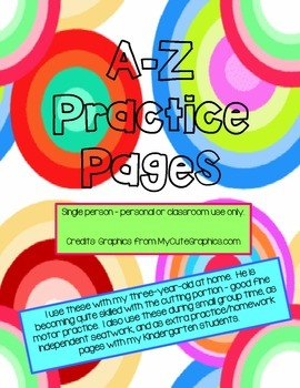 A-Z practice pages