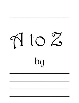 A - Z Book template for any topic