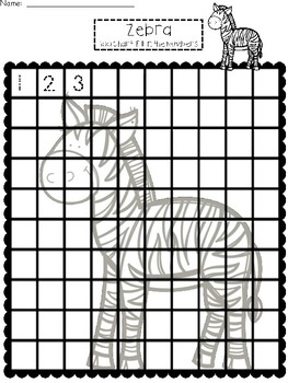 A+ Zebra: Numbers 100 and 120 Chart