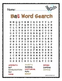 A Zipping-Zapping Bat Word Search