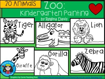 A+ Zoo Animal Art: Kindergarten Painting