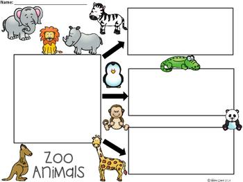 A+ Zoo Animals ...Three Graphic Organizers