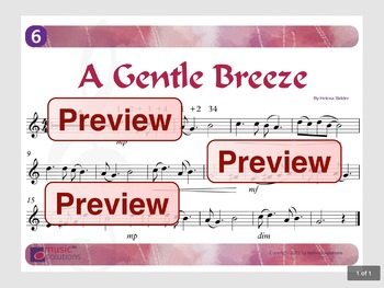 A Gentle Breeze Flute And Oboe MP3 And PDF Unit 6.