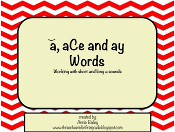 A, aCe & AY Word Study Sort and Activities