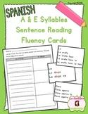 Sentence Fluency Cards: Reading E Syllables (Spanish)