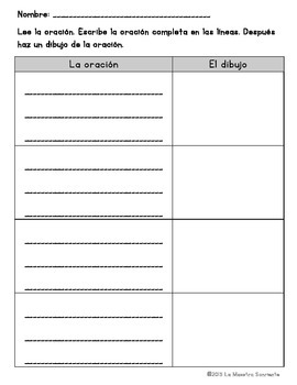 Sentence Fluency Cards: Reading E Syllables (Spanish)