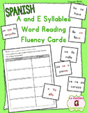 Word Fluency Cards: Reading E Syllables (Spanish)
