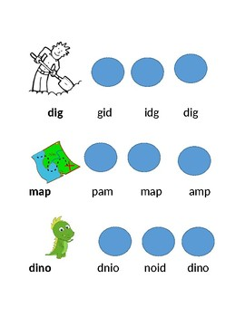 A and I Dino Words