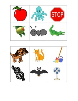 A and O Picture Sort