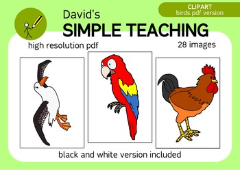 A bird in the hand - Not so cartoonish birds CLIPART IN PDF with free preview