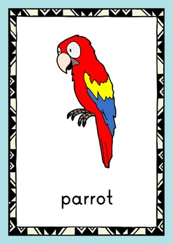 A bird in the hand - Not so cartoonish birds FLASHCARDS with free preview