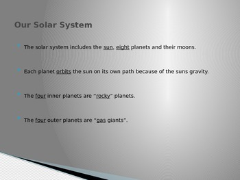 PowerPoint - A brief look at our solar system