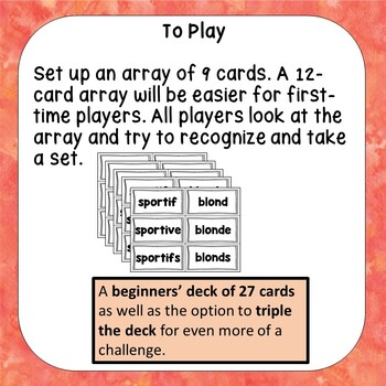 A challenging French adjective recognition game - Ensemble d'adjectifs 4
