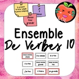 A challenging French verb tense recognition game - Ensemble de verbes 10
