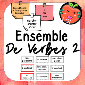 A challenging French verb tense recognition game - Ensemble de verbes 2