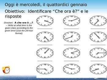 A che ora?