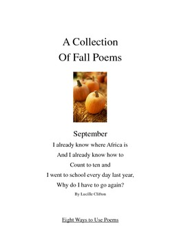 A collection of fall poems