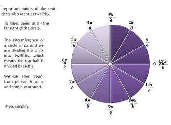 A colorful, step by step, custom animated Unit Circle