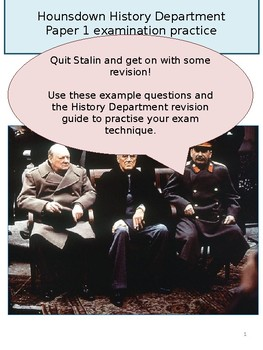 A compilation of OCR GCSE History (Cold War/USA) questions...