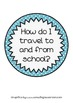 A cute display- how do I travel to school