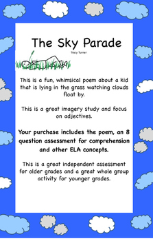 A cute spring poem that contains imagery, an assessment an