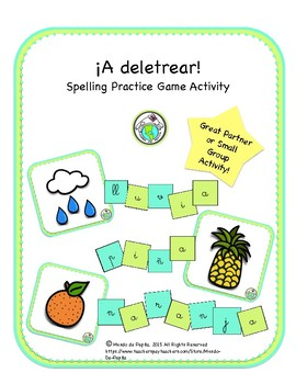 A deletrear SPANISH Spelling Practice Game Activity Printable Spanish Resource