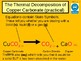"""A digital version of the Grade 6  C1 3.4 """"Thermal Decomposition"""" lesson."""