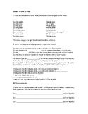 A dios le pido- Lyrics and Activity (Subjunctive)