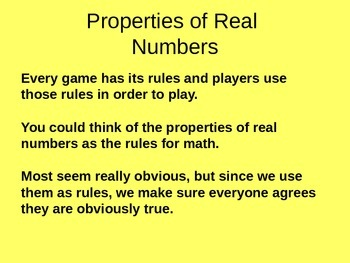 A discussion of the properties of numbers